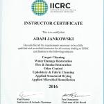 Adan Jankowski - IICRC Instructor Certificate