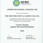 The Restoration Academy UK Limited's IICRC Approved School Certificate